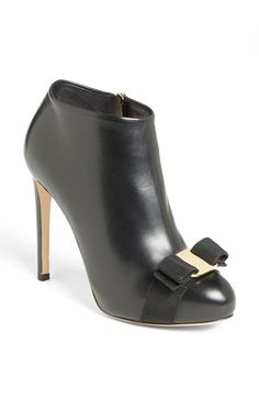 Salvatore Ferragamo 'Royal' Bootie available at #Nordstrom... Cool bow on the toe.