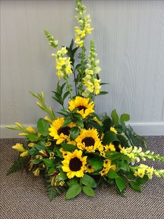 Sunflowers and Snapdragons.