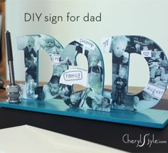 Remind dad he's loved with a DIY dad desk nameplate this Father's Day! An easy, inexpensive craft idea made with love.