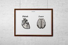 Think & Love by Malisa Perona, via Behance