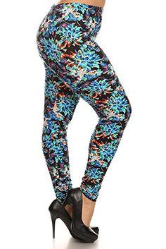 ad70ede4e06e7 World of Leggings Adorable Heart Leggings - Plus Size at Amazon Women s  Clothing store