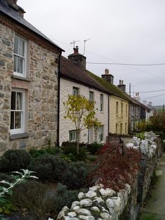 Cottages at Newport, Pembrokeshire. Welsh Cottage, Life In The Uk, Animal Symbolism, Cottages By The Sea, Cymru, North Wales, Coastal Cottage, British Isles, Small Towns