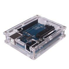 Para Arduino uno R3 Transparente Caso de La Cubierta Del Protector de Shell