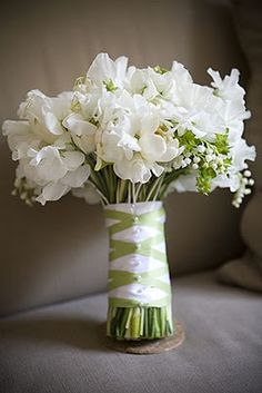 white/green bouquet.