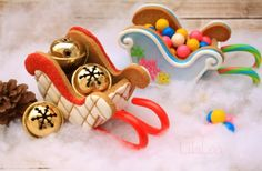 Gingerbread Sleigh Tutorial and Template - LilaLoa