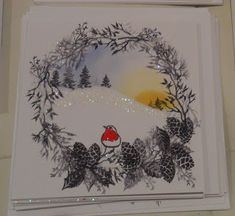 The Sweetest Of Peas: Christmas Scenes Christmas Cards 2017, Stamped Christmas Cards, Christmas Card Crafts, Homemade Christmas Cards, Christmas Scenes, Xmas Cards, Handmade Christmas, Holiday Cards, Cardio Cards