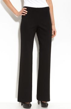 Eileen Fisher Straight Leg Ponte Pants to wear with teal, black and raspberry