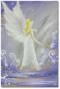 Angylion: Limited angel art photo Feeling you modern angel by HenriettesART Angel Images, Angel Pictures, Top Paintings, Original Paintings, Angel Drawing, I Believe In Angels, Ange Demon, Angels Among Us, Angel Art