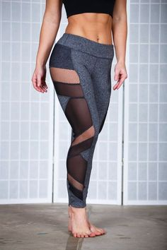 These workout pants were made for the woman who is not satisfied wearing plain gym clothes. These are made to stand out and be awesome...just like you. With mesh and fishnet cut outs, you will be anyt