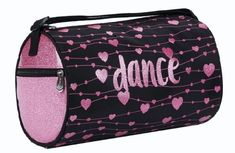 Sparkle Pink Hearts Dance Duffel Bag by Sassi Designs #SPK-02