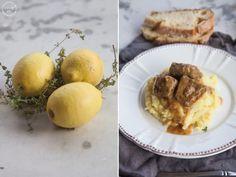 μοσχάρι λεμονάτο Mashed Potatoes, French Toast, Low Carb, Beef, Meals, Breakfast, Ethnic Recipes, Food, Meal Ideas