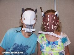 Two great tapir masks (August 8, 2013)