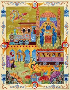 Bülent Özgen - BAĞDAT (HİCAZ) DEMİRYOLU   TÜRKÂRİ Art And Illustration, Urban Design Diagram, Middle Eastern Art, Turkish Art, Indian Paintings, Old Paper, Antique Art, Islamic Art, Indian Art