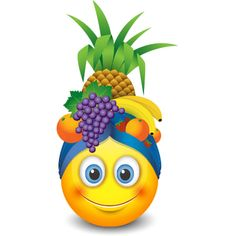Clearly, Carmen Miranda is this smiley's idol. With her tropical charm and island flair, this smiley is sure to enliven your next post. Smiley Emoticon, Animated Smiley Faces, Funny Emoji Faces, Emoticon Faces, Love Smiley, Emoji Love, Cute Emoji, Ios Emoji, Emoji Clipart