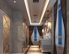 Chinese villa #corridor #furniture and Luxury Villa corridor windows Visit http://www.suomenlvis.fi/
