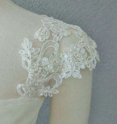 Detachable Ivory Beaded Lace Straps to Add to your Wedding Dress it Can be Customize Handmade Wedding Dresses, Wedding Dresses With Straps, Blue Wedding Dresses, Detachable Wedding Dress Sleeves, Dress Alterations, Wedding Crafts, Beaded Lace, Bridal Accessories, Marie