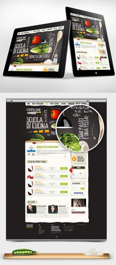 There is no box. Beautifully executed. Officine in Cucina - Web interface Design by Gaia Zuccaro, via Behance