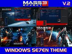 Windows Seven Themes: MASS EFFECT 3 Special Edition By gsw953 & Tiger & TheBull For CTX