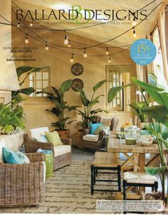 Ballard Design ad - Coastal Living, May 2013