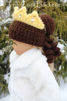 Belle Princess Hat / Wig inspired by Disney's Beauty and the Beast * Crochet Design by April Burwick of TheCozyBuckeye