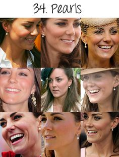 What's not to love about England's adored duchess, Kate Middleton? Her collection of pearl earrings is stunning!