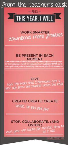 A Teacher's Resolution