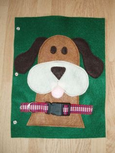 Buckle the Dog Collar Green Felt