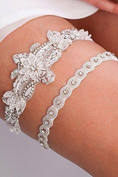 18 Exquisite Wedding Garters For Perfect Wedding Look ❤️ See more: http://www.weddingforward.com/wedding-garters/ #weddings #garters