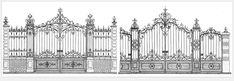 Grilles de châteaux en fer forgé : ferronnerie d'art