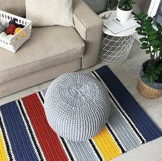 Carpet Runners Sold By The Foot Referral: 2901279260 Beige Carpet, Diy Carpet, Rugs On Carpet, Stair Carpet, Modern Carpet, Room Rugs, Rugs In Living Room, Knit Rug, Crochet Carpet