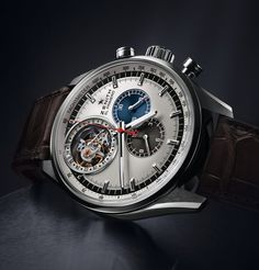 Zenith El Primero Tourbillon the unique automatic watch vph (high frequency) chronograph with a tourbillon in the world. Dream Watches, Fine Watches, Cool Watches, Vintage Rolex, Vintage Watches, Gadget Watches, Limited Edition Watches, Luxury Watches For Men, Automatic Watch