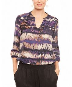 Take a look at this Petunia Ikat Silk Alicia Top by Amour Vert on #zulily today!