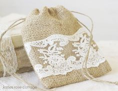 Burlap & Lace 5 x 4 Bag - Wouldn't these make great favors (with something inside of course)