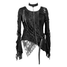 Gothic punk top with choker chain by RQ-BL