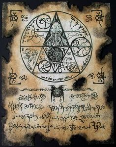 CTHULHU SEAL Necronomicon page occult demon magick dark by zarono, $10.00