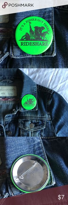 """'90s Vintage IT'S A JUNGLE OUT THERE Rideshare Pin 1990s Vintage """"It's a Jungle Out There"""" Rideshare Pin / Badge / Button / Pinback * 2  1/4"""" * Genuine vintage * Themes: animals, carpool, zebra, elephant, giraffe, gorilla, car, driving Vintage Accessories"""