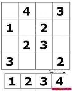 Etkinlik Havuzu - Etkinlik Detay Writing Practice Worksheets, Alphabet Worksheets, Sudoku Puzzles, Logic Puzzles, Math Games, Math Activities, Turkish School, Math For Kids, Brain Teasers