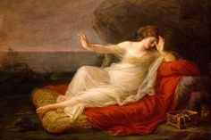 """""""Ariadne Abandoned By Theseus, 1774 by Angelica Kauffman, Swiss Neoclassical painter who had a successful career in London and Rome Famous Artists, Great Artists, Best Breakup Songs, Angelica Kauffmann, Women Artist, Art Women, Kunsthistorisches Museum, Google Art Project, The Minotaur"""