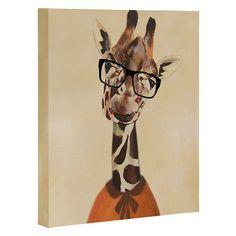 "$24 | Coco de Paris Clever Giraffe Art Canvas (8""x10"")"