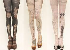 grimoire verum tights - une bibliothèque secrète; ballerine; lequel des deux préférez-vous? blanc et noir