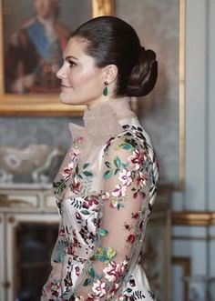 30 January 2018 - Duke and a Duchess of Cambridge's Royal tour to Sweden (day 1): Stockholm, lunch with the Swedish royal family - dress by Ida Sjöstedt