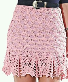 Crochet patrones ganchillo pantuflas Ideas for 2019 Crochet Skirt Pattern, Crochet Flower Tutorial, Crochet Skirts, Crochet Coat, Crochet Blouse, Crochet Clothes, Crochet Baby, Crochet Bikini, Lace Patterns