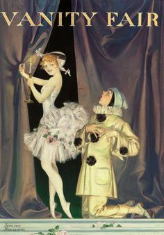 View Pierrot and Columbine for Vanity Fair magazine cover by Frank Xavier Leyendecker on artnet. Browse upcoming and past auction lots by Frank Xavier Leyendecker. Vintage Circus, Vintage Art, Stock Character, Pierrot Clown, Vanity Fair Magazine, Vintage Vanity, Vintage Magazines, Vintage Advertisements, American Art