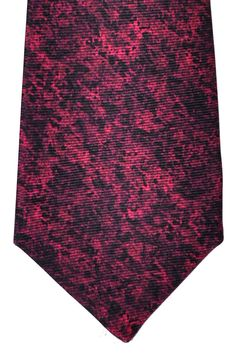 Kiton Sevenfold Tie Red Black Water Colors