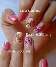 Cute Nails, Nail Art, Rose, Beauty, Nail Designs, Make Art, Wonder Woman, Designed Nails, Pretty Nails