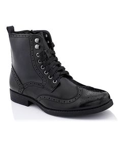 Another great find on #zulily! Black 1292 Oxford Boot #zulilyfinds