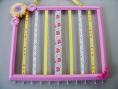 Picture frame hair bow holder and headband by MaggieMayeDesigns