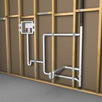 Simple Solutions To Problems With Your Plumbing – Plumbing Laundry Room Sink, Laundry Room Remodel, Basement Laundry, Laundry Room Design, Basement Bathroom, Bathroom Ideas, Bath Ideas, Pex Plumbing, Plumbing Drains