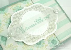 Baby Congrats card with Papertrey Ink diecut and stamp