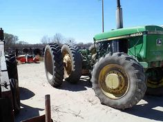 John Deere 4850 tractor salvaged for used parts. This unit is available at All States Ag Parts in Bridgeport, NE. Call 877-530-5010 parts. Unit ID#: EQ-23975. The photo depicts the equipment in the condition it arrived at our salvage yard. Parts shown may or may not still be available. http://www.TractorPartsASAP.com